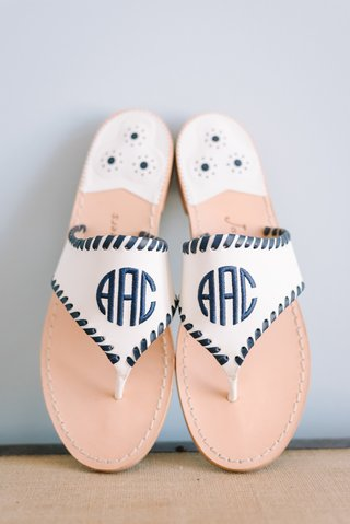 monogrammed-sandals-with-black-leather-stitching