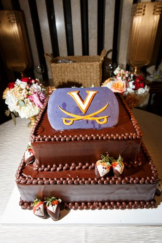virginia-cavaliers-grooms-cake-purple-logo-chocolate-covered-strawberries-chocolate-cake
