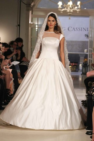 oleg-cassini-spring-2016-ball-gown-with-illusion-cap-sleeves