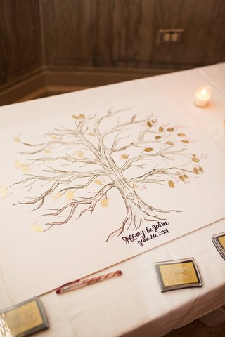 alternative-guestbook-idea-family-tree-with-gold-fingerprints