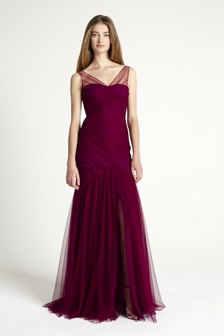 red-burgundy-dress-monique-lhuillier-bridesmaid-collection-2016