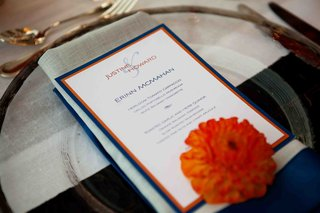 personalized-wedding-menu-with-blue-and-orange-border