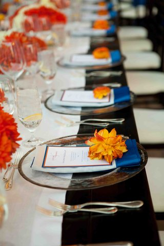 blue-and-orange-wedding-reception-decoration-details