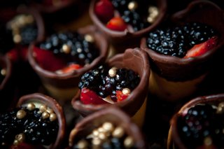 chocolate-dip-ice-cream-cone-with-gold-beads-and-fruit