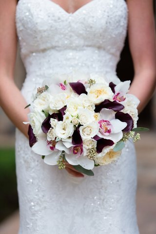 bouquet-with-white-and-ivory-roses-and-garden-roses-white-orchids-purple-calla-lily