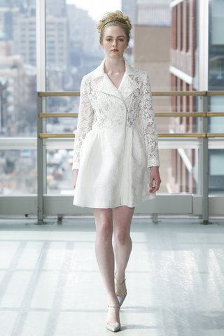 look-2-by-gracy-accad-spring-2019-short-white-moto-dress-in-guipure-lace-rose-cloque-pattern-skirt