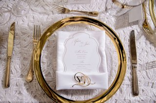gold-charger-plate-with-white-menu-and-invitation-with-gold-monogram-accessory-gold-flatware-white