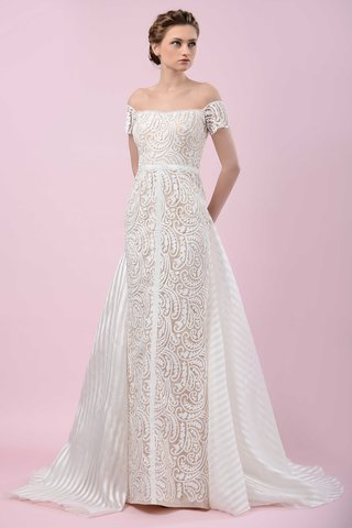 gemy-maalouf-2016-paisley-pattern-off-the-shoulder-wedding-dress-with-stripe-train