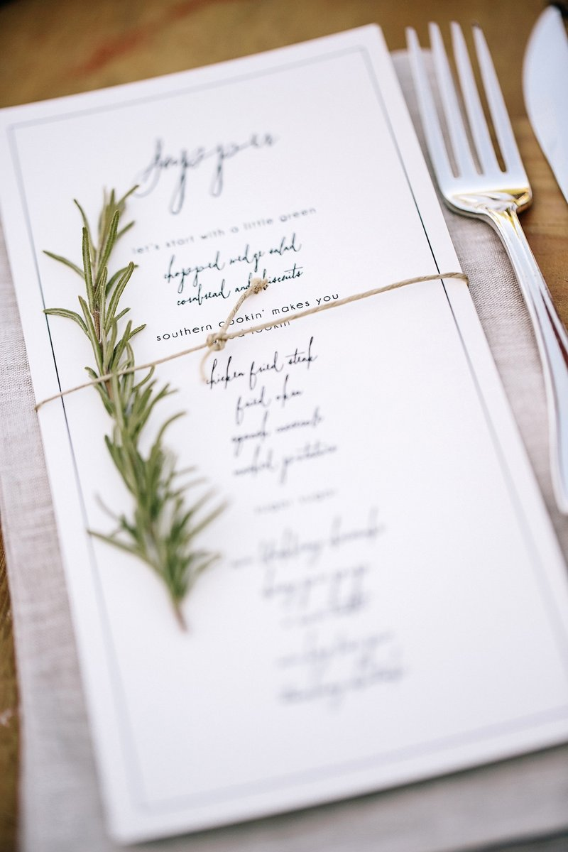 Rosemary Menu Decoration