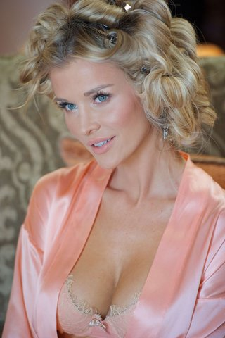 joanna-krupa-in-pink-lace-bra-and-robe-on-wedding-day