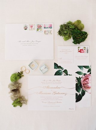 wedding-invite-gold-calligraphy-with-pink-peony-flower-and-floral-stamps-rsvp-card-moss-greenery