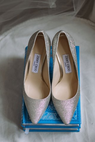 wedding-shoes-on-blue-story-book-ring-holder-jimmy-choo-silver-glitter-heels