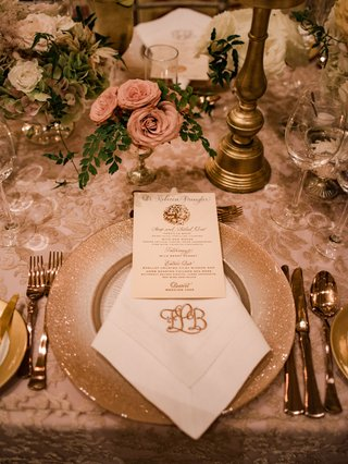 wedding-reception-place-setting-nuage-designs-linen-glitter-charger-monogram-napkin-rose-gold-menu
