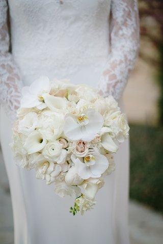 white-phalaenopsis-orchids-calla-lilies-roses-ranunculus-gardenia-peony-bouquet-bridal-wedding