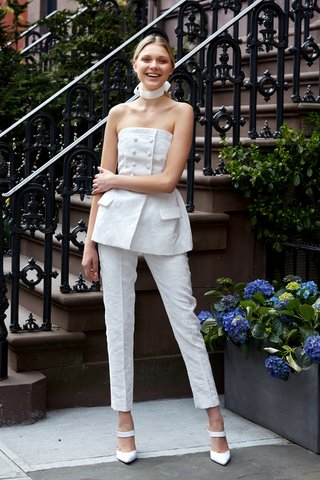 the-halsey-by-lela-rose-spring-2019-double-breasted-floral-embossed-peplum-top-and-matching-pant