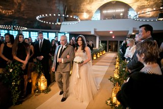 alexis-cozombolidis-and-hunter-pence-wedding-bride-walking-down-aisle-with-father-traditional