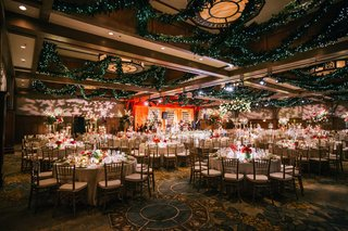 wedding-reception-ballroom-holiday-christmas-theme-red-white-greenery-ballroom-decor