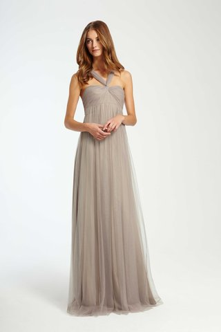 monique-lhuillier-bridesmaids-fall-2016-taupe-empire-waist-bridesmaid-dress-with-halter-neck
