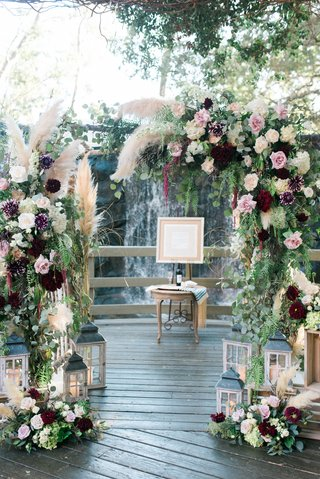 rustic-chuppah-for-fall-wedding-with-blush-and-marsala-flowers-pampas-grass