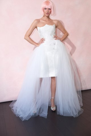phoenix-by-isabelle-armstrong-spring-2019-midi-length-mikado-dress-peaked-neckline-tulle-skirt