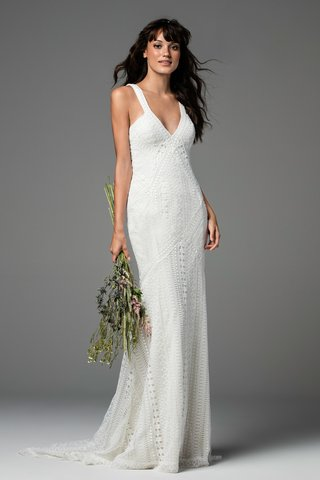 willowby-by-watters-fall-2017-bliss-low-cut-sheath-with-sevighy-striped-lace-soft-netting