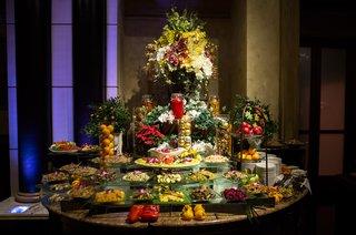 large-crudite-display-at-wedding-reception-san-francisco-giants-joe-panik-wedding