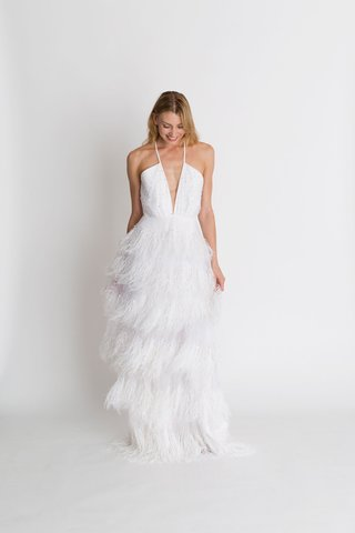 alexandra-grecco-fall-winter-2018-the-magic-hour-wedding-dress-coco-fringe-layer-skirt-plunge-v
