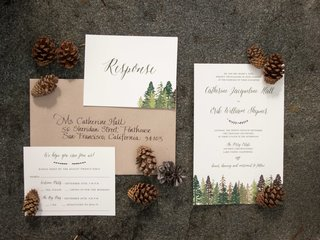 tahoe-wedding-with-pine-trees-painted-on-forest-inspired-invitation-suite