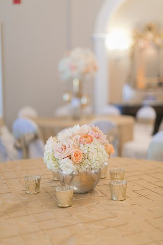 wedding-reception-table-with-ivory-hydrangeas-roses-pink-dahlias-roses-light-orange-ranunculus