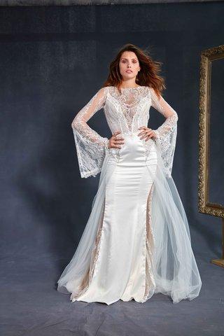 galia-lahav-couture-le-secret-royal-part-2-penelope-wedding-dress-sheer-cutouts-lace-trumpet-sleeves