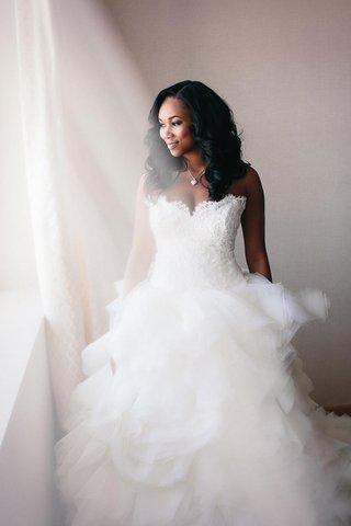 brandon-mebane-african-american-bride-with-lazaro-ruffle-tulle-skirt-ball-gown