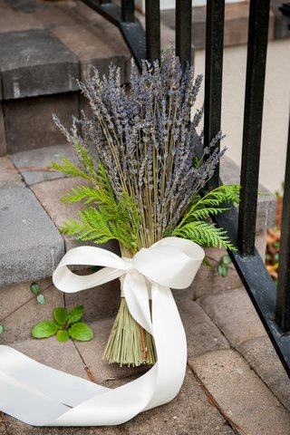 purple-lavender-with-fern-accents-tied-with-white-ribbon