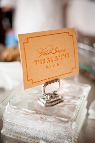 orange-fried-green-tomato-stack-sign-at-wedding