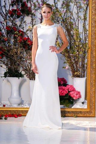 anne-barge-collection-spring-2017-linden-crepe-column-wedding-dress-bateau-neckline-body-jewelry
