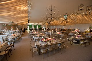 garden-theme-lighting-chandeliers-birdcages-lanterns-reception-whimsical-wedding