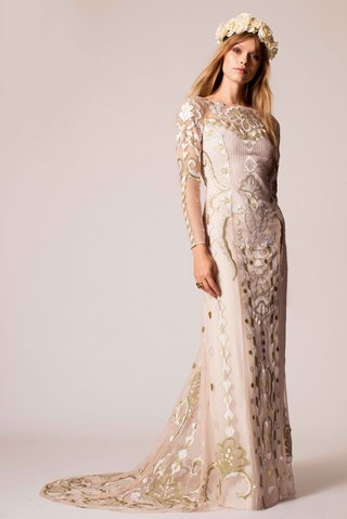 temperley-bridal-2016-long-sleeve-metallic-gold-embroidery-wedding-dress