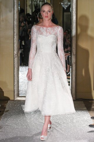 tea-length-wedding-dress-by-oleg-cassini