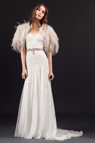 temperley-london-bridal-summer-2017-lucie-drop-waist-wedding-dress-embroidery-feather-bolero-belt