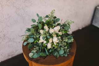 bridal-bouquet-with-white-roses-and-heavy-greenery-eucalyptus-leaves