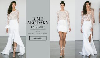 rime-arodaky-fall-2017-bridal-collection-wedding-dresses-lace-short-high-low-mini