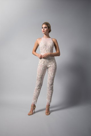 randi-rahm-fall-2018-wedding-dress-bridal-collection-gwen-stefani-jumpsuit-sheer-embroidery