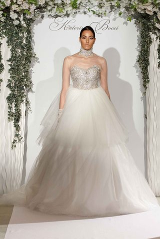 katerina-bocci-2017-bridal-collection-eloise-ball-gown-sheer-neck-long-sleeve-jacket-tier-skirt