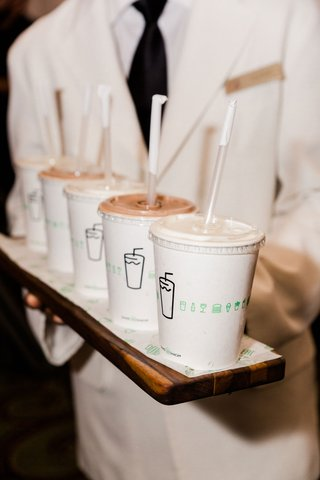 wedding-reception-surprise-dessert-milkshakes-from-shake-shack-on-wood-serving-board