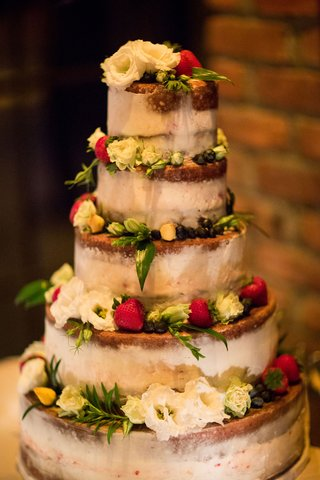 wedding-reception-cake-five-layers-semi-naked-wedding-cake-fresh-flowers-and-fruit