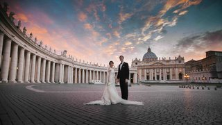 historic-building-in-rome-with-gorgeous-sunset