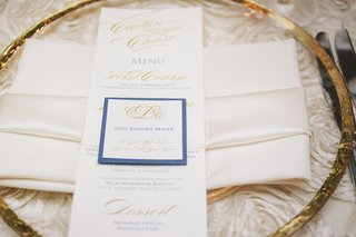 wedding-menu-card-and-escort-card-with-blue-and-gold-details