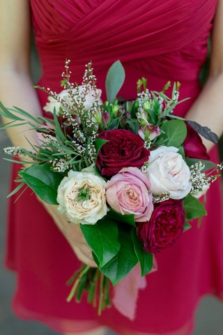 small-bouquet-with-red-blush-ivory-roses-and-greenery