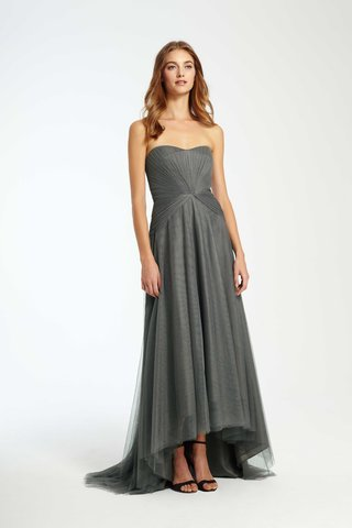 monique-lhuillier-bridesmaids-fall-2016-grey-strapless-bridesmaid-dress-with-high-low-skirt