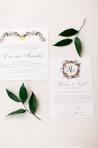 invitation-suite-decorated-with-illustrated-wreaths-of-florals-and-lemons