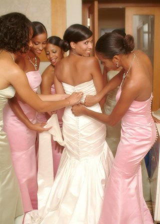 bride-and-bridesmaid-dresses-with-back-buttons